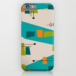 Mid-Century Modern Abstract iPhone Case