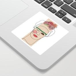 Frida Kahlo Line Art Sticker