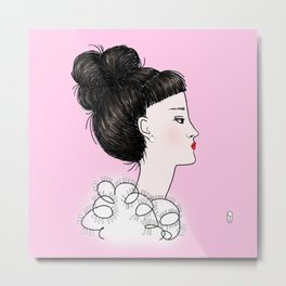 cuty pink Metal Print