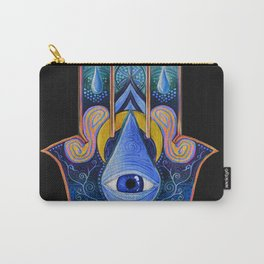 The Hamsa of Sacred Waters Carry-All Pouch