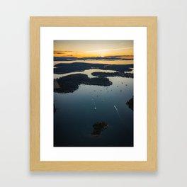 San Juan Islands Framed Art Print