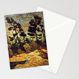 Tom Thomson - Summer Shore, Georgian Bay  - Canada, Canadian Oil Painting - Group of Seven Stationery Cards