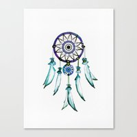 dreamcatcher Canvas Prints featuring Dreamcatcher by Monika Strigel