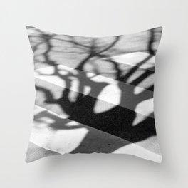 zebra crossing, tree shadow Throw Pillow