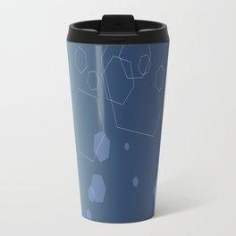 Hexagon background - Cold explosion Travel Mug