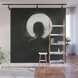 facing the moonlight Wall Mural
