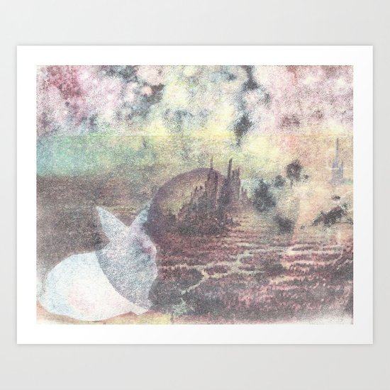A Rabbit and a Dying City Art Print