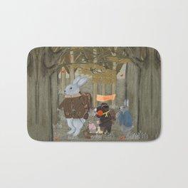 a little woodland adventure Bath Mat