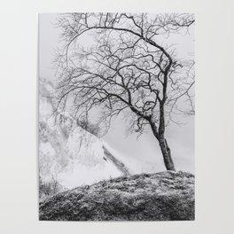 ON THE BRINK (graphite) / Møns Klint, Denmark Poster
