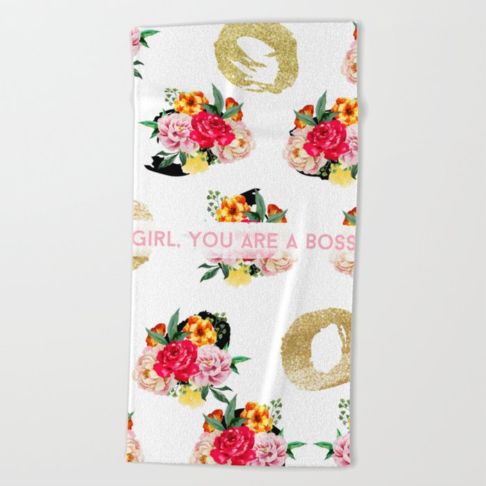 Girl, You Are A Boss Beach Towel