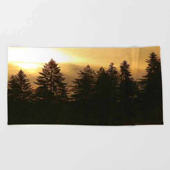 Forest At Morning  Beach Towel