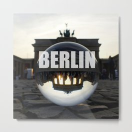 Brandenburg Gate sunset, Berlin Metal Print