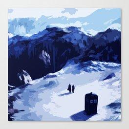 Tardis Art At The Snow Mountain Canvas Print