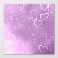 heart love cute pink Canvas Print