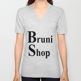 Bruni Shop words Unisex V-Neck