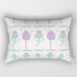 Thistle and Teasel Pattern Rectangular Pillow