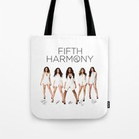fifth harmony Tote Bags featuring Fifth Harmony - signatures by xamjx3