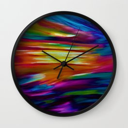 CELESTIAL SKY - Large Abstract Sky Oil Painting Wall Clock