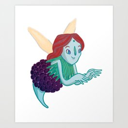 Waterthumb Art Print