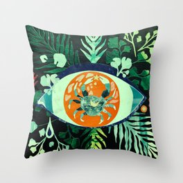 Third Eye Zodiac, Cancer Throw Pillow