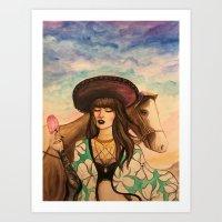 Amor del sol Art Print