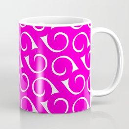 Hot Pink and White Swirls Coffee Mug