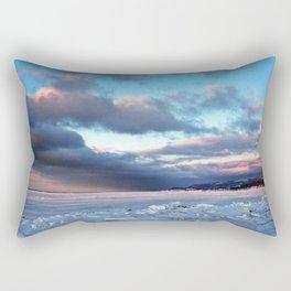 Storm Cloud Across Frozen Bay Rectangular Pillow