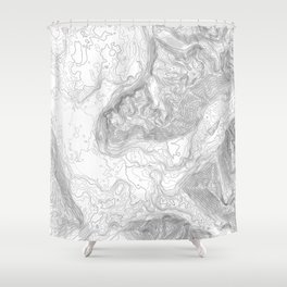 NORTH BEND WA TOPO MAP - LIGHT Shower Curtain