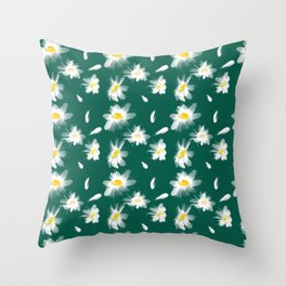 Camomiles summer Throw Pillow