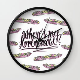 where's my hoverboard? Wall Clock