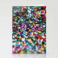 confetti Stationery Cards featuring Confetti by Laura Ruth