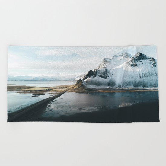 Iceland Adventures - Landscape Photography Beach Towel