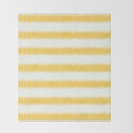 Ikat Stripe Yellow Throw Blanket