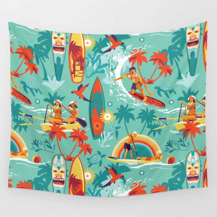 Hawaiian resort Wall Tapestry