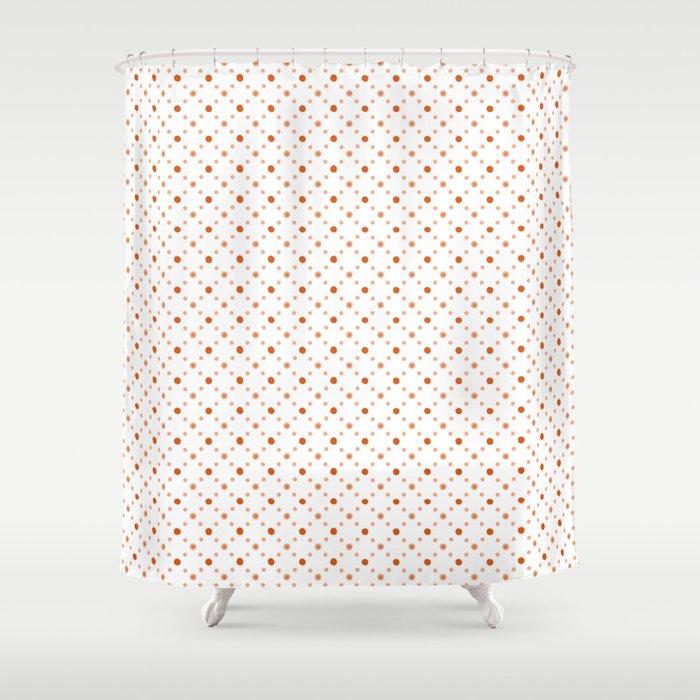 Criss Cross Dots Shower Curtain