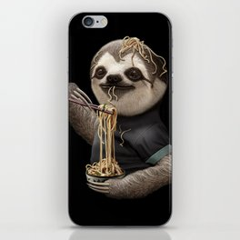 SLOTH EATING NOODLE iPhone Skin