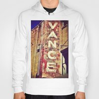 theater Hoodies featuring vintage theater sign by melissamartin