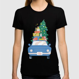 Car with Christmas gifts T-shirt