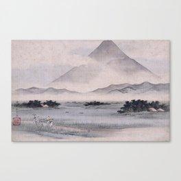 Utagawa Hiroshige - Fuji Marsh, Suruga province Canvas Print