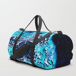 butterfly beautiful strong free splatter watercolor blue negative Duffle Bag