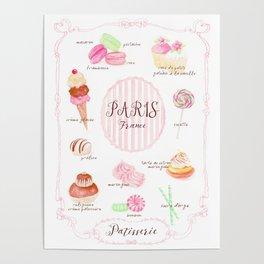 Paris Patisserie Poster