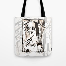 Old Flowers - b&w Tote Bag