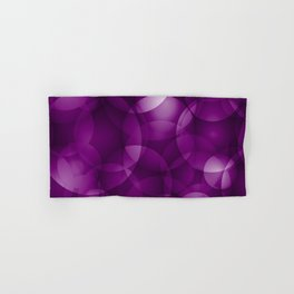 Dark intersecting purple translucent circles in bright colors with a blueberry glow. Hand & Bath Towel