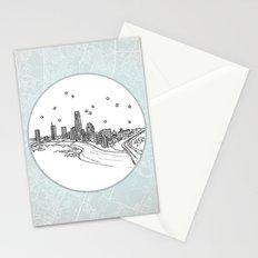 Austin, Texas City Skyline Stationery Cards