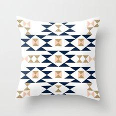 Jacs - Modern pattern design in aztec themed pattern navajo print textile cute trendy girl Throw Pillow