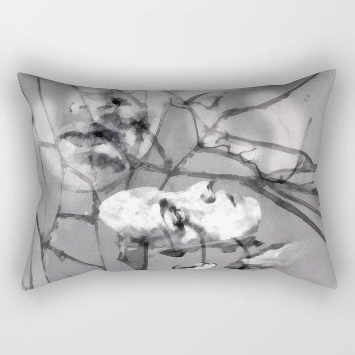 Silent and Distant Rectangular Pillow