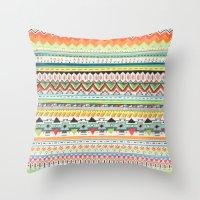 Throw Pillows featuring Pattern No.3 by Sandra Dieckmann