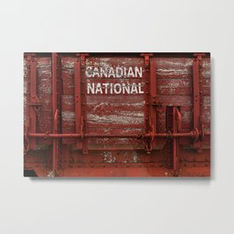 Red Wagon Metal Print