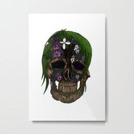 Plant Skull Metal Print