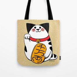 Teh as Maneki Neko Cat Tote Bag